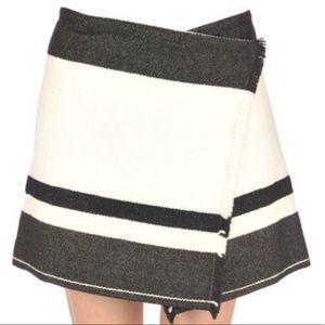 ISABEL MARANT Wool Fringe Wrap Mini Skirt